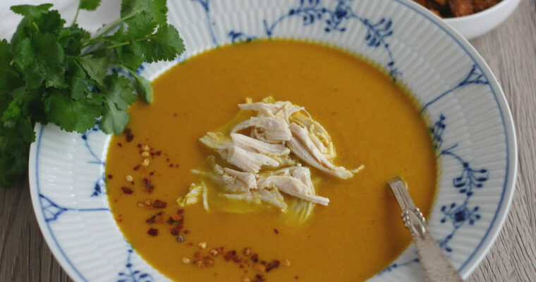 Spicy og cremet gulerodssuppe