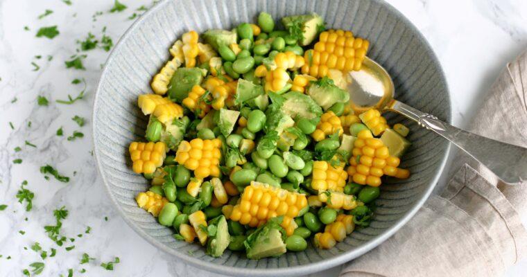 Avocadosalat med sommermajs