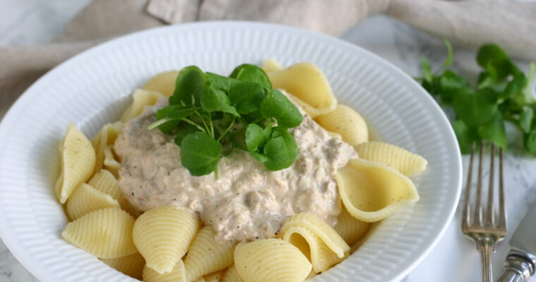 Pasta med tuncreme