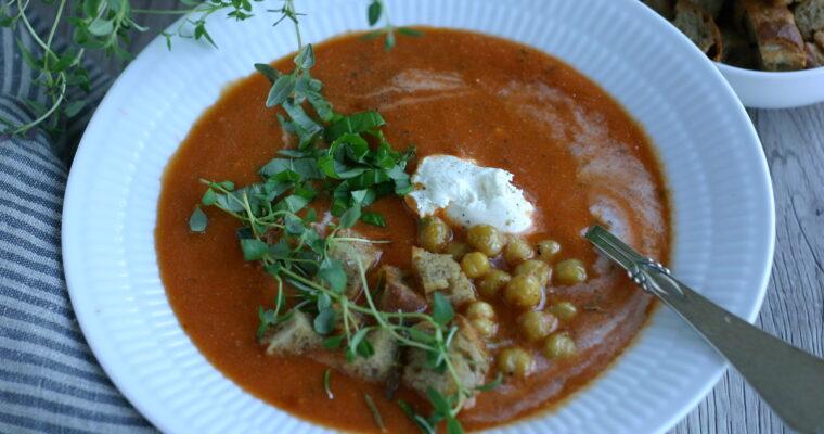Cremet tomatsuppe med mascarpone