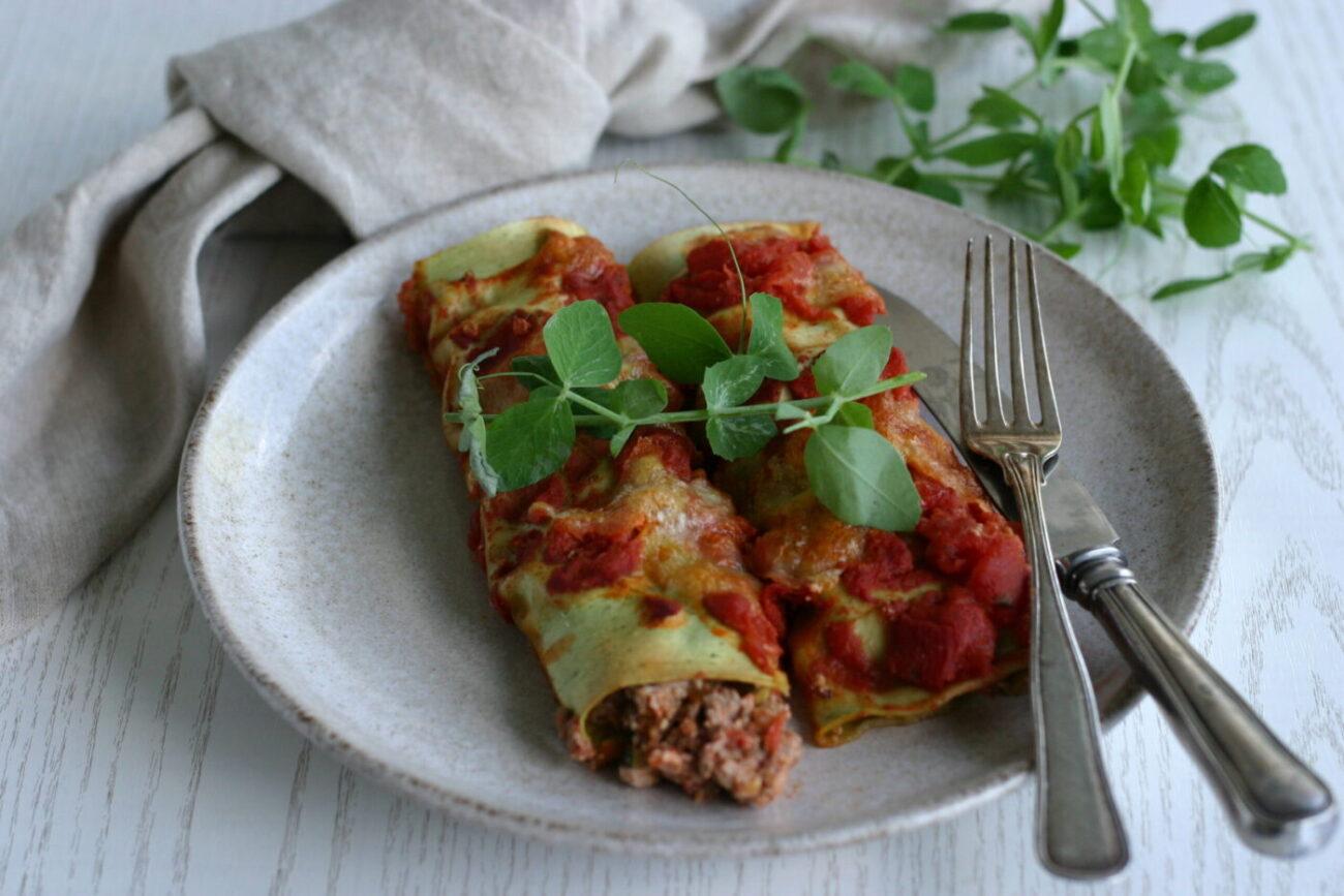 Cannelloni med oksekød og ricotta