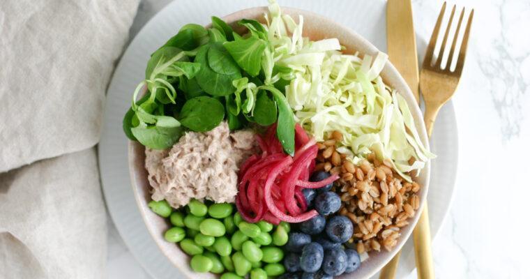 Frokost bowl med tunsalat